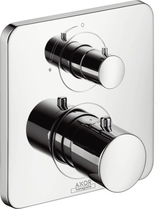 Термостат для душа с запорным вентилем встраиваемый без встраиваемого механизма и без подключения шланга, хром Hansgrohe AXOR Citterio M 34705000