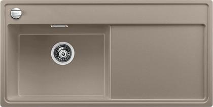 Кухонная мойка чаша слева, крыло справа, с клапаном-автоматом, гранит, серый беж Blanco ZENAR XL 6 S 519289