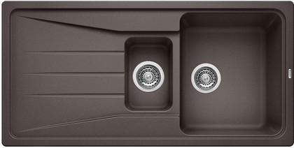 Кухонная мойка оборачиваемая с крылом, гранит, тёмная скала Blanco SONA 6 S 519853
