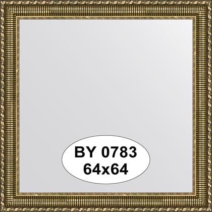 Зеркало 64x64см в багетной раме золотой акведук Evoform BY 0783