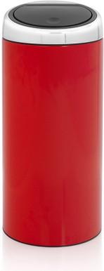Ведро для мусора 30л красное Brabantia TOUCH BIN 481086