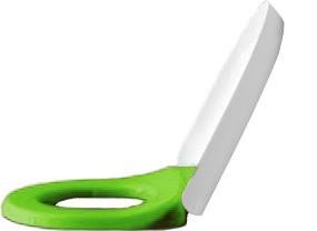 Сиденье для унитаза зелёное с белой крышкой, микролифт Laufen FLORAKIDS 8.9103.1.072.000.1