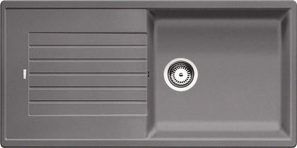 Кухонная мойка оборачиваемая с крылом, гранит, тёмная скала Blanco ZIA XL 6 S 518943