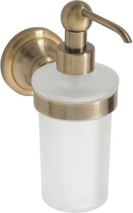 Дозатор жидкого мыла настенный, бронза / матовое стекло, Bemeta 144109017