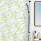 Штора для ванны 180x200см текстильная зелёная Spirella CANE 1010410