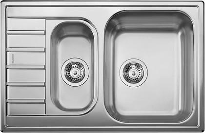 """Кухонная мойка оборачиваемая с крылом, нержавеющая сталь """"декор"""" Blanco LIVIT 6 S Compact 515794"""