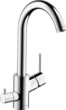 Смеситель для кухни однорычажный с запорным вентилем для посудомоечной машины, хром Hansgrohe Talis S² 14875000