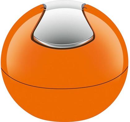 Ведро настольное 1л оранжевое Spirella BOWL-SHINY 1014966