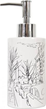 Ёмкость для жидкого мыла керамическая белая Spirella PARIS 4007028