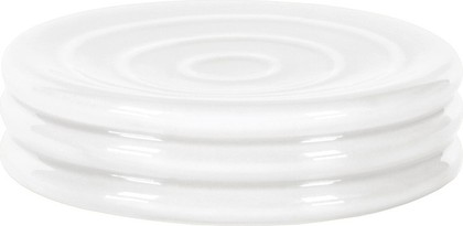 Мыльница керамическая белая Kleine Wolke LIPSY 5801100853