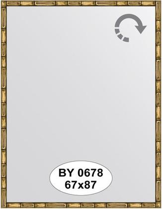 Зеркало 67x87см в багетной раме золото-бамбук Evoform BY 0678