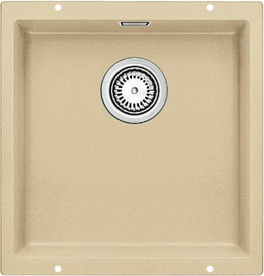 Кухонная мойка без крыла, с клапаном-автоматом, гранит, шампань Blanco SUBLINE 400-U 515756