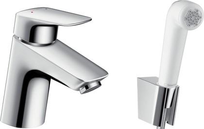 Смеситель для раковины однорычажный с гигиеническим душем , хром Hansgrohe Logis 71290000