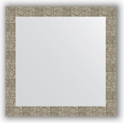 Зеркало в багетной раме 76x76см соты титан 70мм Evoform BY 3244