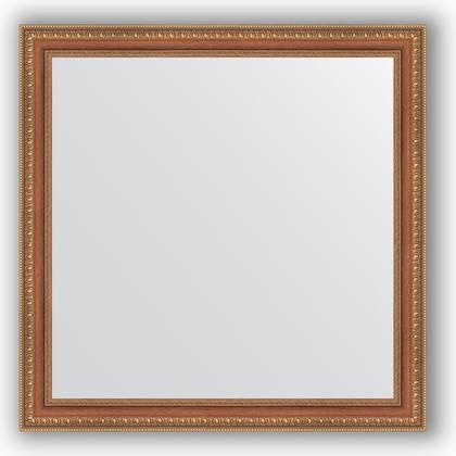 Зеркало в багетной раме 75x75см бронзовые бусы на дереве 60мм Evoform BY 3235