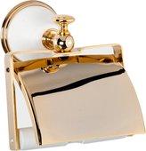 Держатель туалетной бумаги с крышкой, белый/золото TW Harmony TWHA219bi/oro