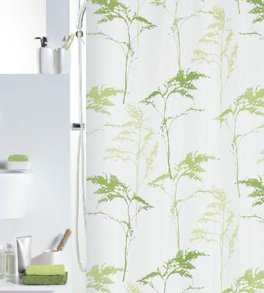 Штора для ванны 180x200см текстильная олива Spirella MONTE 1011736