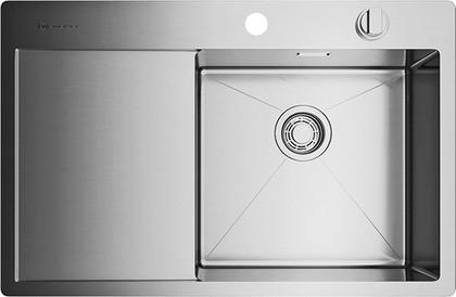 Кухонная мойка с левым крылом, нержавеющая сталь Omoikiri Kirisame 78-IN-R 4993061