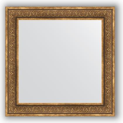 Зеркало в багетной раме 83x83см вензель бронзовый 101мм Evoform BY 3255