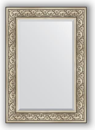 Зеркало с фацетом в багетной раме 70x100см барокко серебро 106мм Evoform BY 3450
