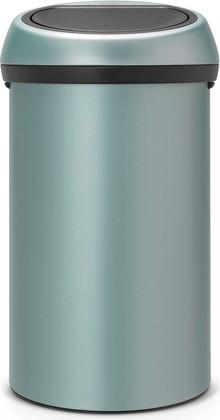 Ведро для мусора 60л цвета мятный металлик Brabantia TOUCH BIN 402449