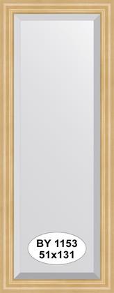 Зеркало 51x131см с фацетом 30мм в багетной раме сосна Evoform BY 1153