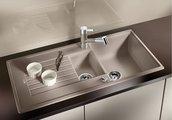 Кухонная мойка оборачиваемая с крылом, гранит, жасмин Blanco ZIA 6 S 514743