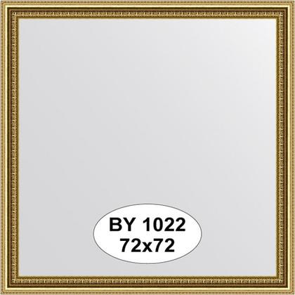 Зеркало 72x72см в багетной раме бусы золотые Evoform BY 1022