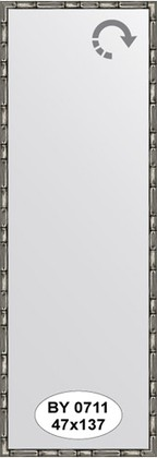 Зеркало 47x137см в багетной раме серебро-бамбук Evoform BY 0711