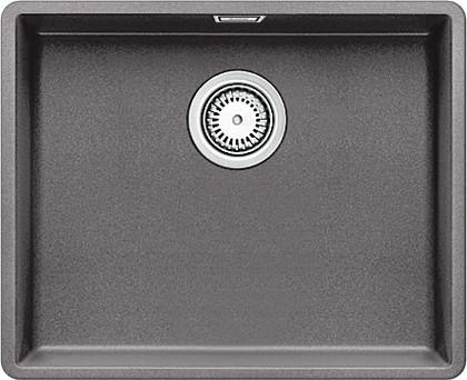 Кухонная мойка без крыла, с клапаном-автоматом, гранит, тёмная скала Blanco SUBLINE 500-F 519809