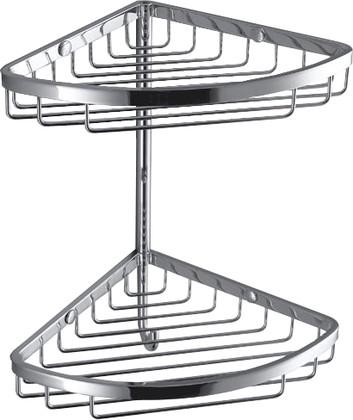 Полка для ванной угловая двойная 18см, хром Colombo ANGOLARI B9604