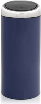 Ведро для мусора 30л синее Brabantia TOUCH BIN 481024