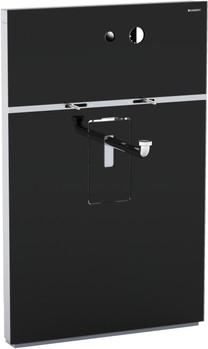 Инсталляция для подвесного умывальника и встроенного смесителя, без выдвижного ящика, чёрное стекло Geberit MONOLITH 131.043.SJ.1