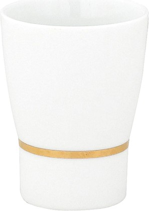 Стакан фарфоровый белый с золотым ободком Spirella OPERA 1009603