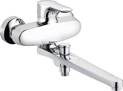 Смеситель для ванны однорычажный с длинным изливом, хром Kludi OBJEKTA 324910575