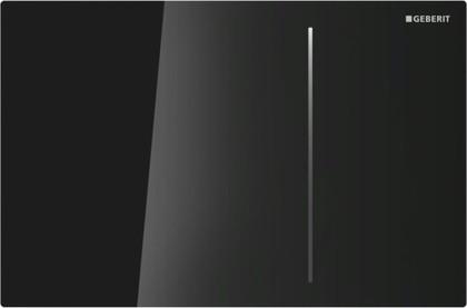 Клавиша двойного смыва, чёрное стекло Geberit Sigma70 115.620.SJ.1