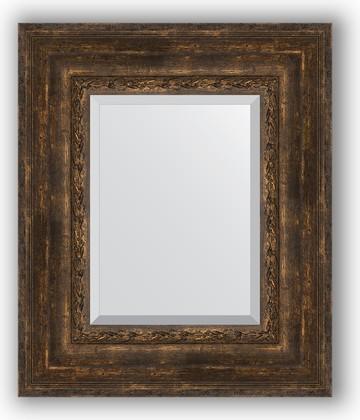 Зеркало с фацетом в багетной раме 52x62см состаренное дерево с орнаментом 120мм Evoform BY 3378