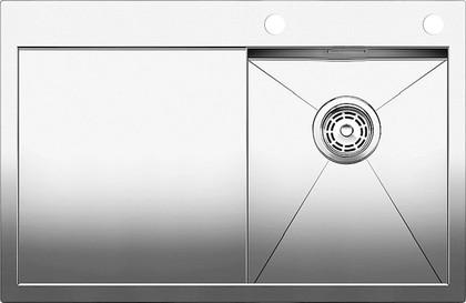 Кухонная мойка чаша справа, крыло слева, с клапаном-автоматом, нержавеющая сталь зеркальной полировки Blanco ZEROX 4 S-IF/A 513704