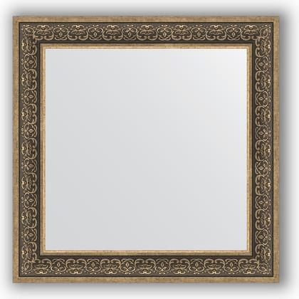 Зеркало в багетной раме 83x83см вензель серебряный 101мм Evoform BY 3256
