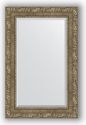 Зеркало с фацетом в багетной раме 55x85см виньетка античная латунь 85мм Evoform BY 3411