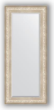 Зеркало с фацетом в багетной раме 65x150см виньетка серебро 109мм Evoform BY 3556
