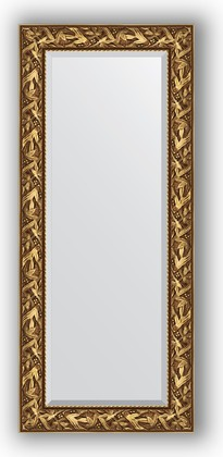 Зеркало с фацетом в багетной раме 64x149см византия золото 99мм Evoform BY 3545