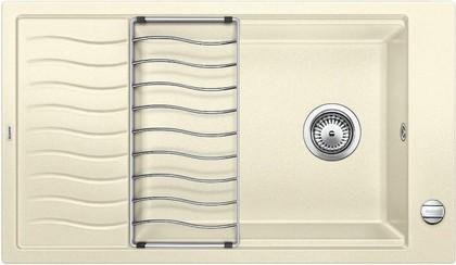 Кухонная мойка оборачиваемая с крылом и решеткой, гранит жасмин Blanco ELON XL 8 S 520489