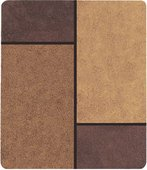 Коврик для ванной 55x65см коричневый Spirella UNIT 1015666
