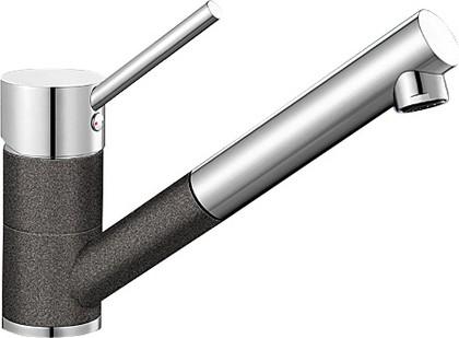 Компактный кухонный смеситель с выдвижным изливом, хром / антрацит Blanco ANTAS-S 515356