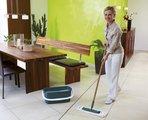 Швабра для пола с бамбуковой ручкой, 42см Leifheit CLARO EcoPerfect 55271