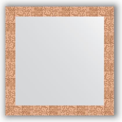 Зеркало в багетной раме 76x76см соты медь 70мм Evoform BY 3242