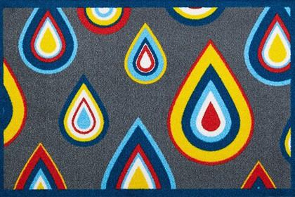 Коврик придверный 50x78см для помещения синие капли, полиамид Golze CONTZEN MATS PRETTY DRIPS 1700-40-005-020