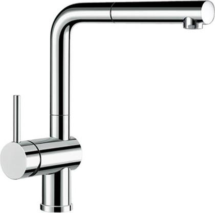 Смеситель кухонный однорычажный с высоким выдвижным изливом, рычаг управления слева, хром Blanco LINUS-S 514016