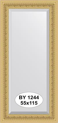 Зеркало 55x115см с фацетом 30мм в багетной раме сусальное золото Evoform BY 1244